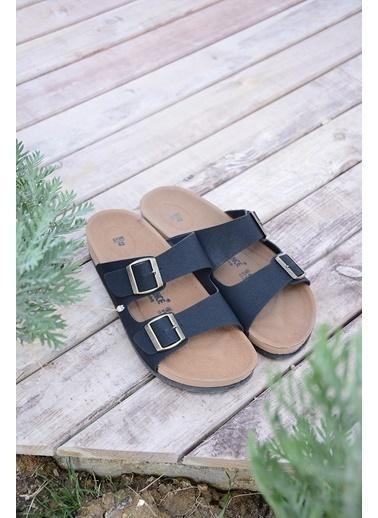 Pembe Potin A5152-19 Erkek Sandalet Siyah